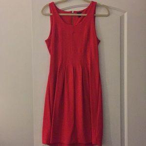 J. crew red sleeveless pleated dress SZ 6